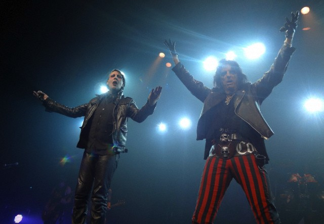 Marilyn Manson and Alice Cooper perform at the Verizon Theater, Grand Prairie, TX